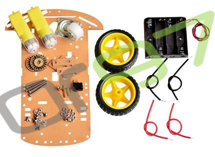 Smart Robot Car Chassis Kit Speed Encoder Battery Box 2WD Big Size