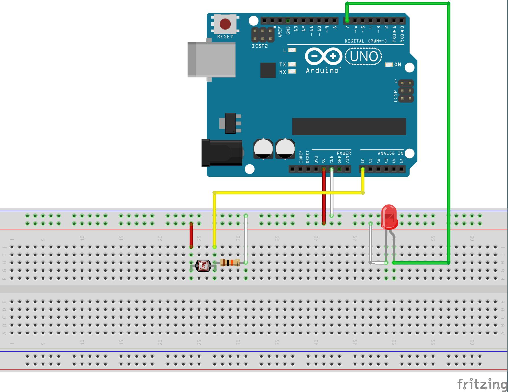 LED/Light Control using LDR